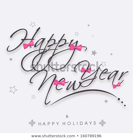 christmas and new year pink love decoration card stock photo © cienpies