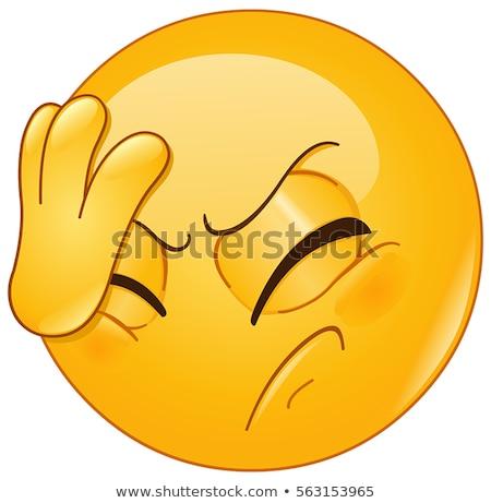 Headache emoticon Stock photo © yayayoyo