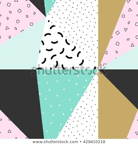 Kolekcja wzorców bezszwowy moda czarno białe mozaiki Zdjęcia stock © ExpressVectors