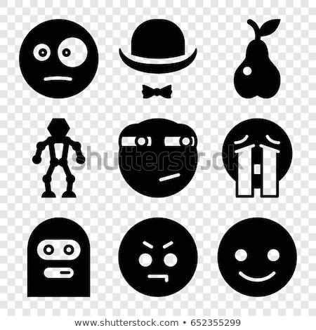 Cartoon verwonderd dief robot naar masker Stockfoto © cthoman