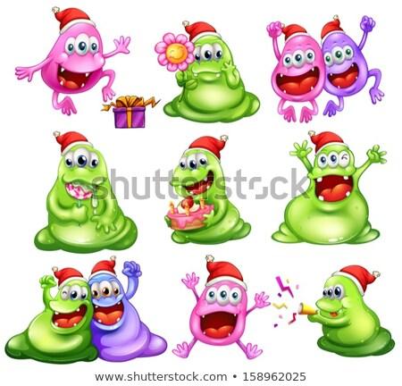Natale mostri presenti illustrazione sfondo bianco Foto d'archivio © colematt