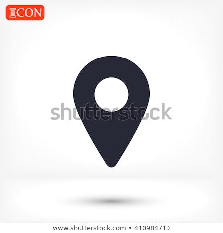 Navigatie plaats fiche icon vector cursor Stockfoto © NikoDzhi