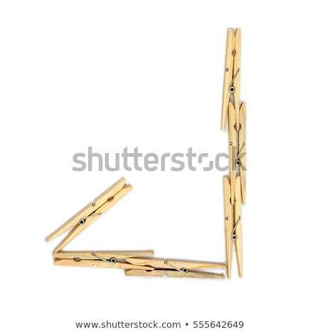 Clothespin letter J Stock photo © boggy