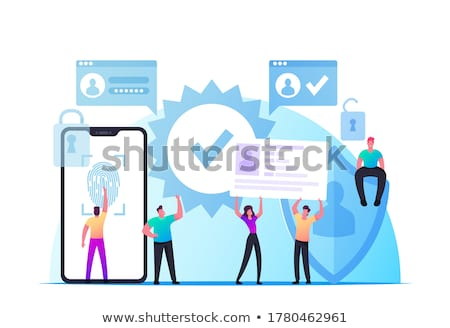 Identification Mobile Phone with Print Vector Stock photo © robuart