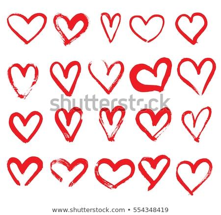 сердце стилизованный икона линия вектора символ Сток-фото © blaskorizov