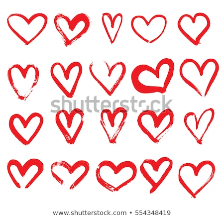 heart stylized icon line vector illustration stock photo © blaskorizov