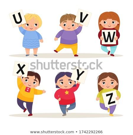 Oktatási játék gyerekek rajz illusztráció megállapítás Stock fotó © izakowski