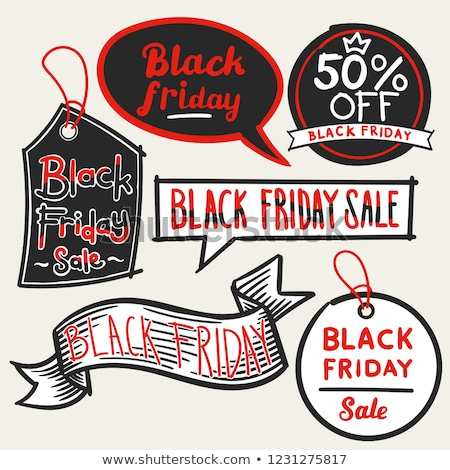 Advertisement on Black Friday Sale, Sketch Labels Stock photo © robuart