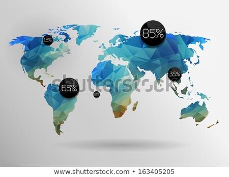 地球 · 軌道 · 3D · レンダリング · 3次元の図 · 技術 - ストックフォト © djmilic
