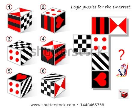Játék kockák különböző formák kocka izolált Stock fotó © kup1984