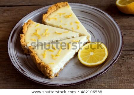 homemade lemon cheesecake stock photo © mpessaris