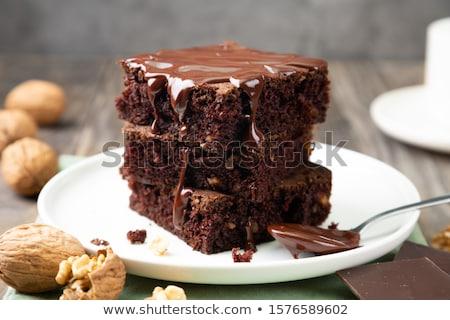 Chocolate coffee cake Stock photo © YuliyaGontar