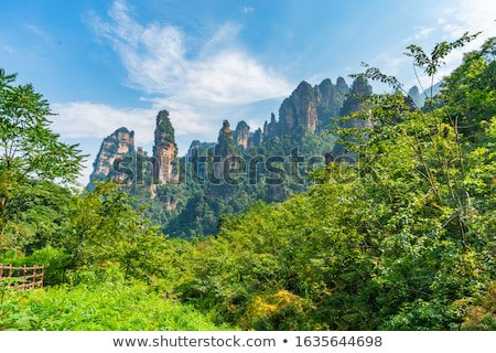 Pequeño camino chino montanas vacío paisaje Foto stock © Juhku