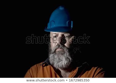 Casco lavoratore set lavoro uomo controllo Foto d'archivio © toyotoyo