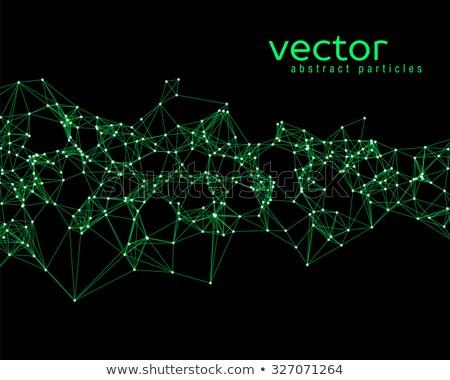 Zielone trójkąt czarny wektora ilustracja odizolowany Zdjęcia stock © cidepix