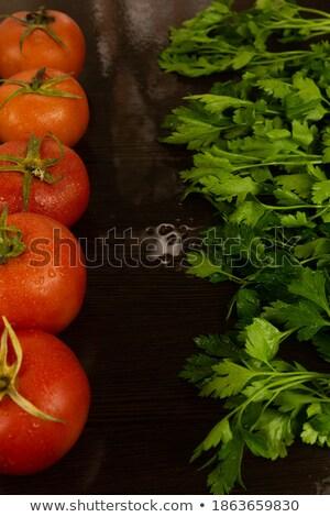 Fraîches persil laisse autre ingrédients noir Photo stock © Digifoodstock