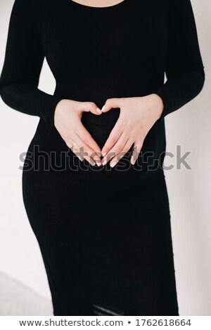 желудка болезненный женщину прикасаться Сток-фото © Kzenon