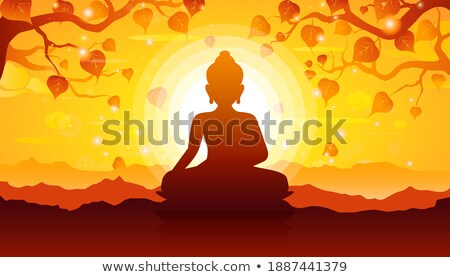 Divine Buddha's sitting silhouette Stock photo © Blue_daemon