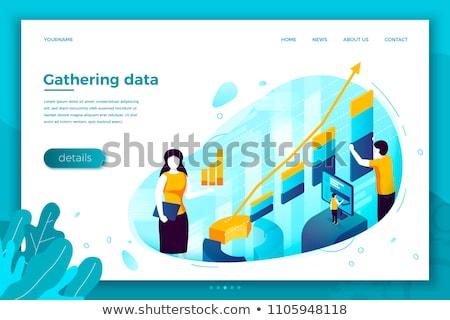 Team on work concept web site design template Stock photo © sgursozlu