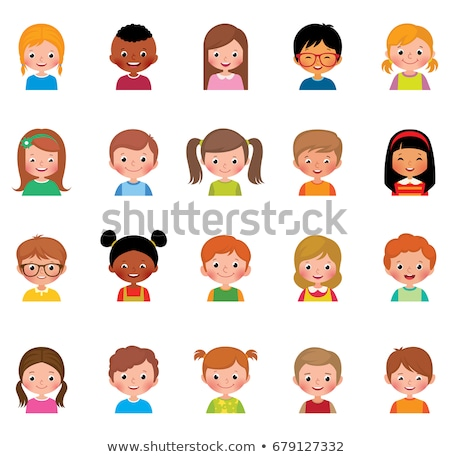 Set of multicultural children Stock photo © bluering