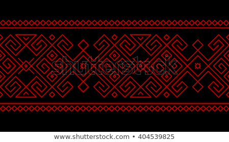Traditional georgian floral pattern tile Stock photo © boggy