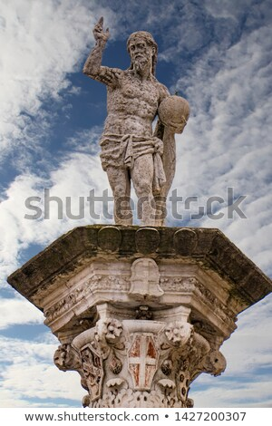 Statue of the Redeemer at Piazza dei Signori in Vicenza Italy, m Stock photo © boggy