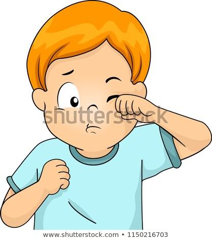 Kid Boy Symptom Scratching Illustration Stock photo © lenm