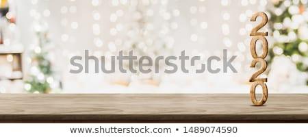 Stockfoto: Nieuwjaar · counter · ontwerp · bestanddeel · bellen · tonen