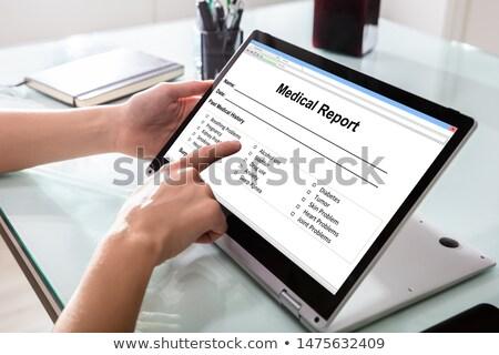 医師 充填 患者 情報 フォーム ノートパソコン ストックフォト © AndreyPopov