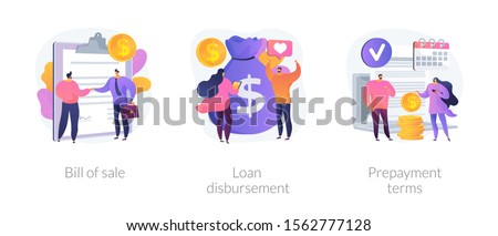 Pagamento vetor metáforas dinheiro empréstimo contrato Foto stock © RAStudio