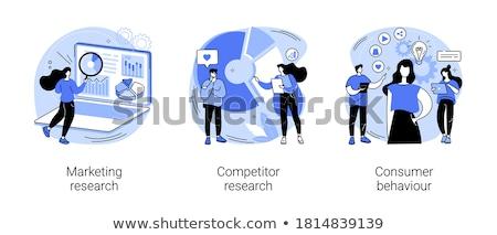 Business onderzoek vector metafoor gegevens Stockfoto © RAStudio
