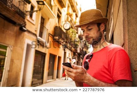 GPS navigáció mobiltelefon okostelefon fehér felület Stock fotó © tashatuvango
