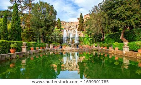 ヴィラ 噴水 庭園 イタリア 地域 建物 ストックフォト © Zhukow