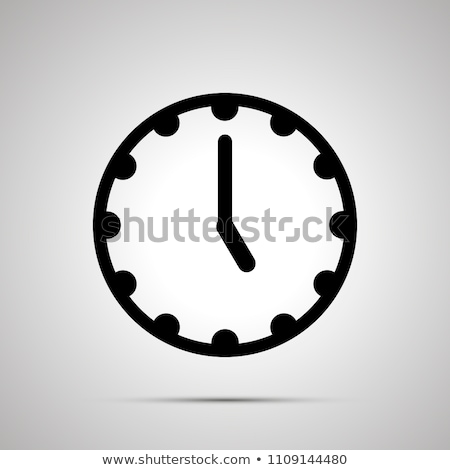 Clock face showing 5-00, simple black icon Stock photo © evgeny89