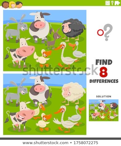 Cartoon goose puzzle. Vector illustration for children education Stock photo © natali_brill