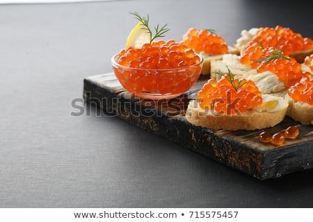 Baguette pain rouge caviar délicieux apéritif Photo stock © furmanphoto