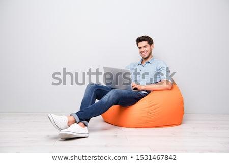 Freelancer zakenman laptop fauteuil freelance startup Stockfoto © robuart