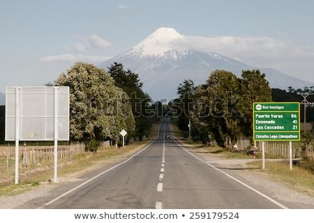 Чили шоссе знак зеленый облаке улице знак Сток-фото © kbuntu