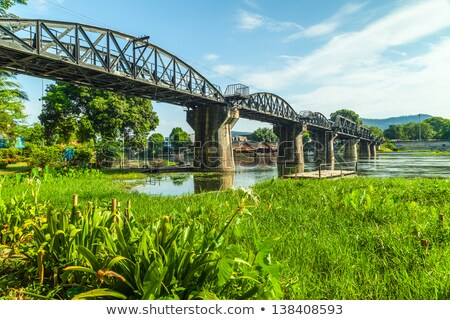 Stockfoto: Brug · rivier · Thailand · beroemd · gebouw · kruis