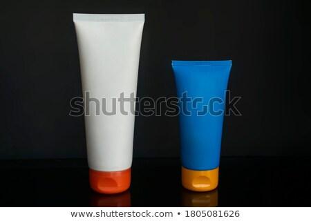 oranje · shampoo · fles · geïsoleerd · witte · lichaam - stockfoto © vichie81