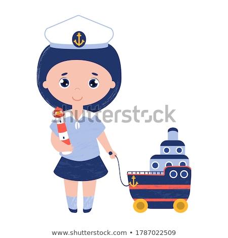 girl captain Stock photo © zastavkin