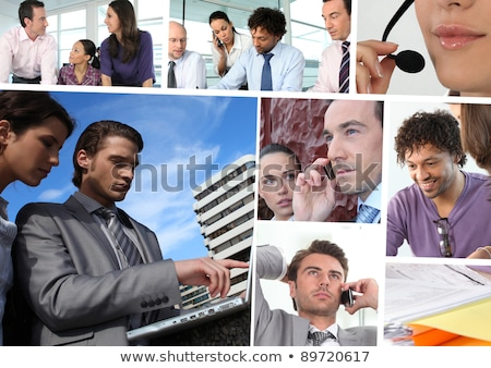 Montage of a team of building workers Stock photo © photography33
