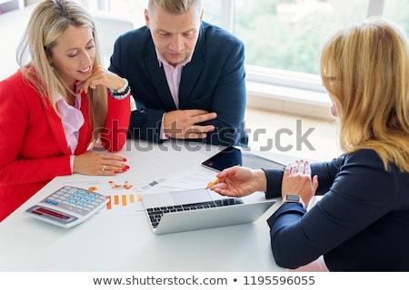 финансовых заседание бизнеса служба группа костюм Сток-фото © photography33