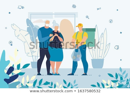 young man helping senior woman buy online stock photo © photography33