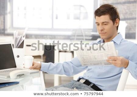 empresário · telefonema · sincero · computador · laptop - foto stock © photography33