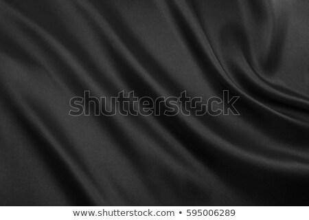 Smooth elegant black satin background. Stock photo © ozaiachin