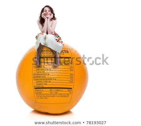 mulher · sessão · laranja · nutrição · etiqueta · belo - foto stock © piedmontphoto