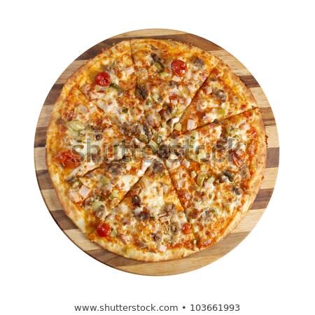 Pizza East With Tomato Stok fotoğraf © Fanfo