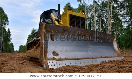 Heavy earth mover in the forest Stock photo © Nobilior