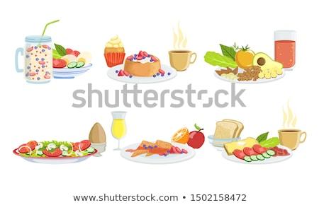 Egészséges étel kicsi fiú fa eszik gyümölcs Stock fotó © silent47